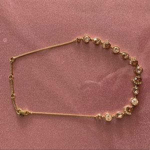 Givenchy Necklace Gold w/variety of PINK stones!
